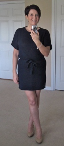 Navy relaxed knitted tunic