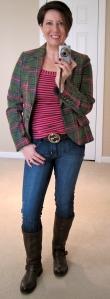 Boden tweed jacket, Hudsons, Frye