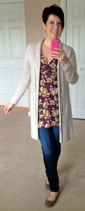 Canterbury tunic, long line cardigan