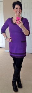 Boden colourblock tunic, Frye Jane Tall boots