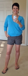 Shorts and flip flops!