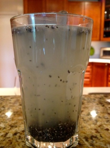 Coconut water and chia seeds