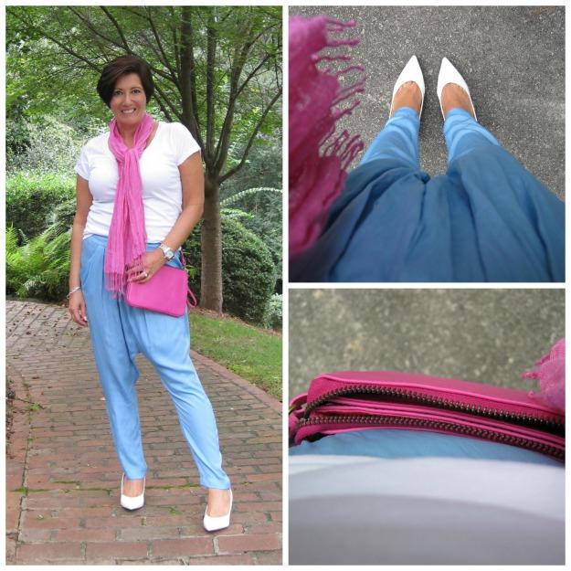 Blue Zara harem trousers
