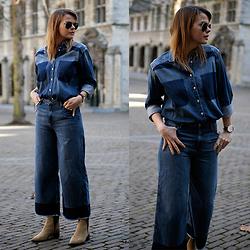 H&M wide leg jeans inspo 1