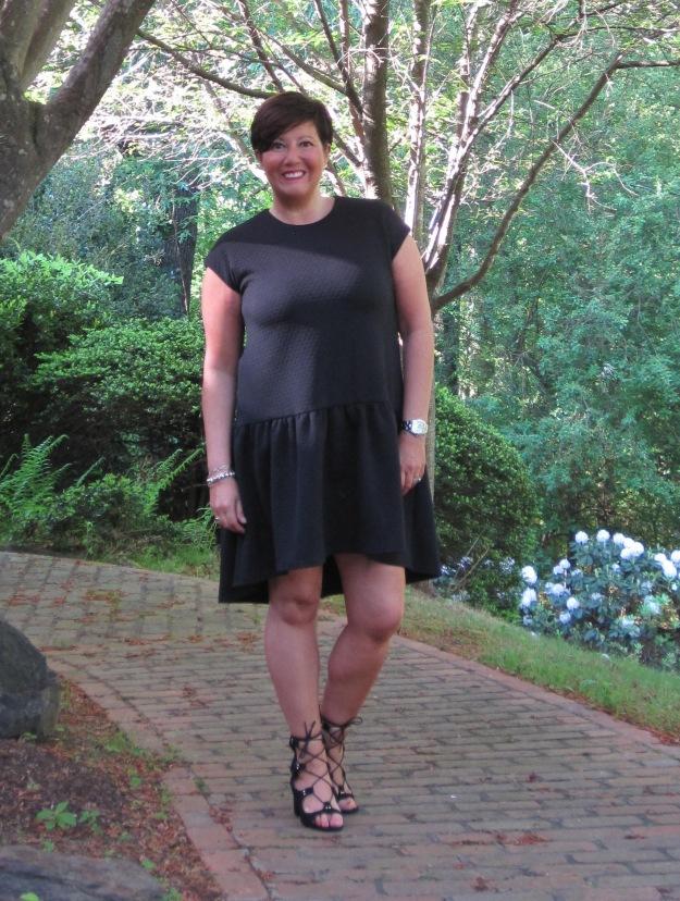 ASOS, drop waist dress, Zara sandals