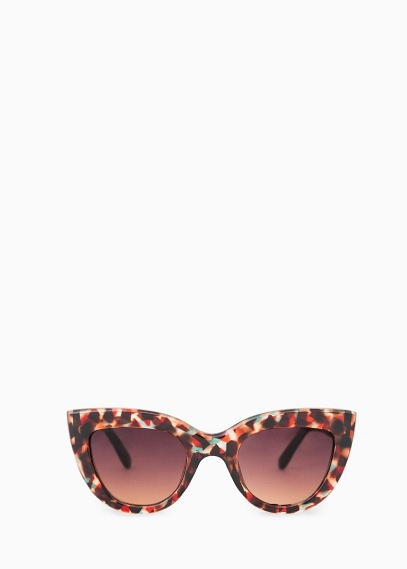 patterned red cateye