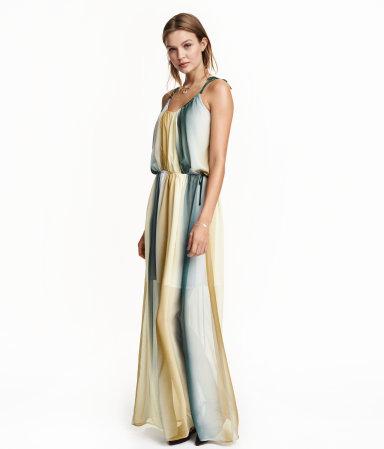 chiffon maxi dress