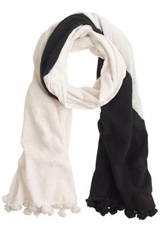 J.Crew black and white scarf