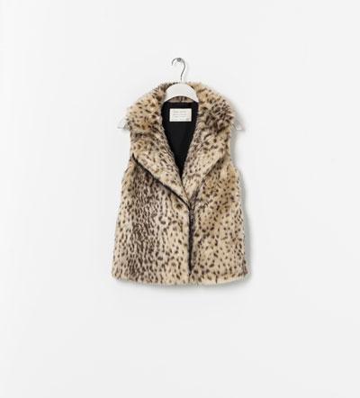 Zara leopard print gilet