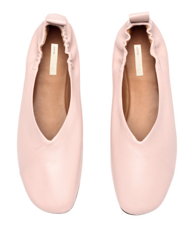 H&M pink leather ballet flats