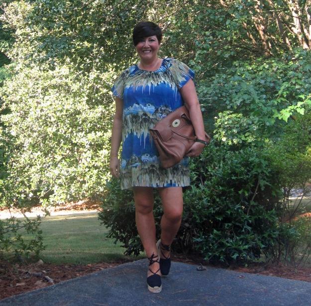 & Other Stories dress, Mulberry Bayswater, Castañer espadrilles