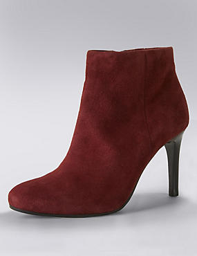 burgundy ankle boot