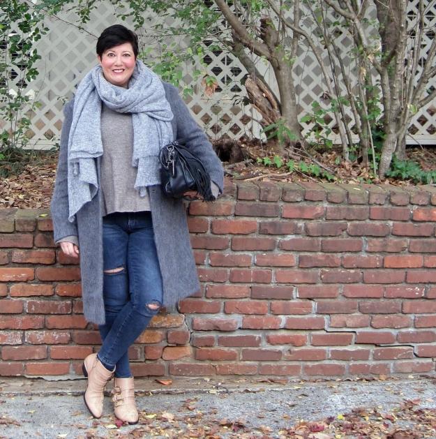 Asos coat and Chloe Susanna boots
