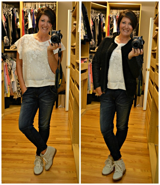 Diesel Jogg jeans and M&S limited jacket