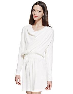 white drape front