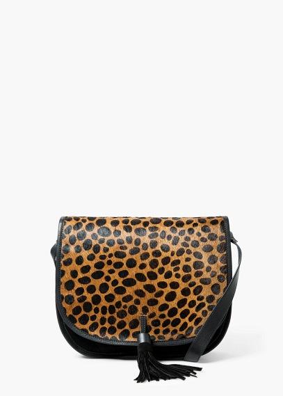 Mango leopard cross body