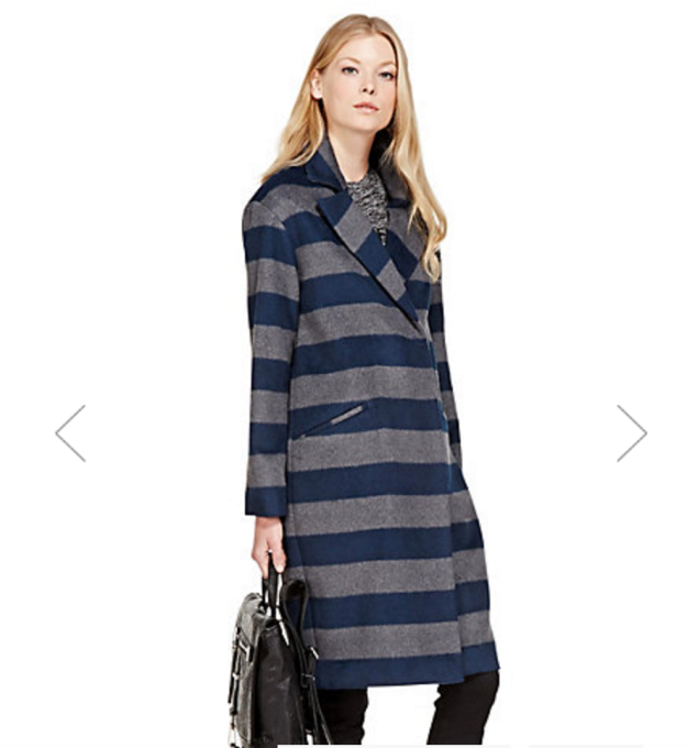 Marks and Spencer striped coat