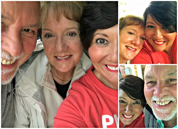 mum and dad collage