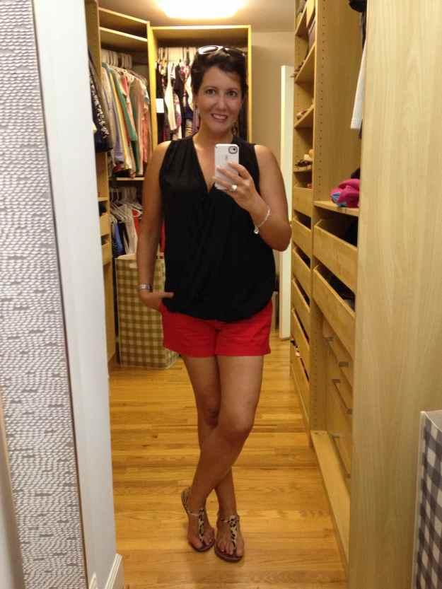 Gap shorts and Zara top