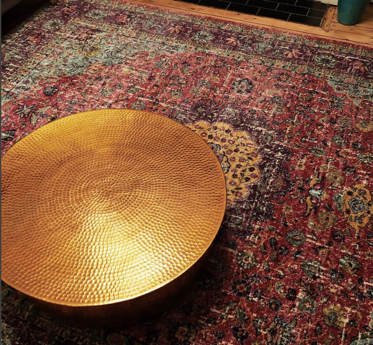 Wayfair.co.uk Darcia rug, Habitat Orrico coffee table