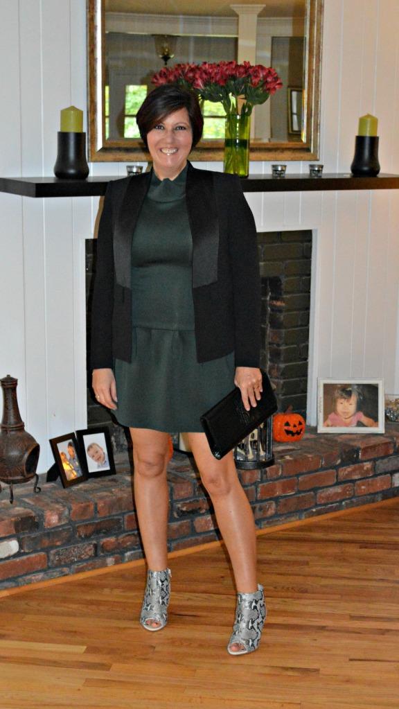 Zara dress and peep toes