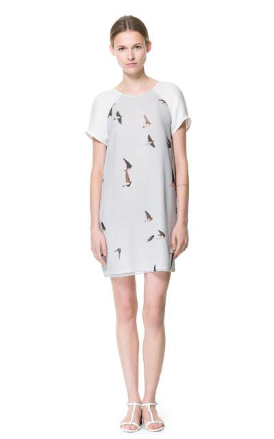 Birdprint dress