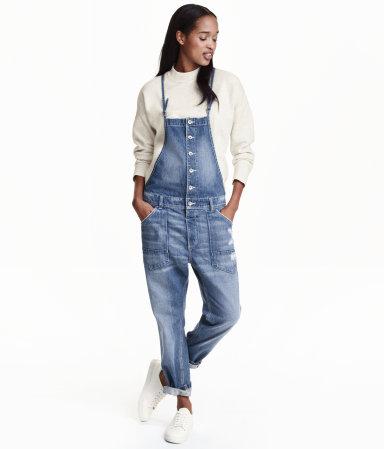 button overalls