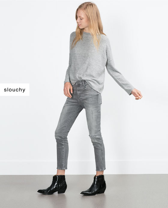 Grey slouchy