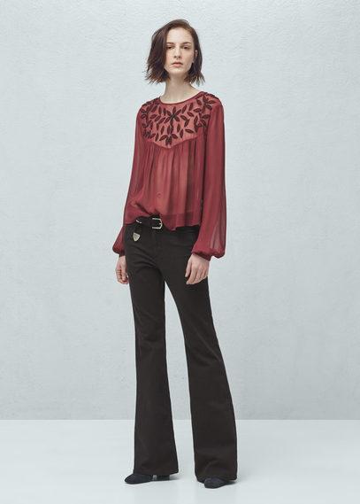 beaded chiffon blouse