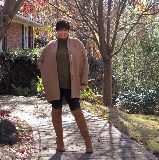 & Other Stories coat and Sam Edelman boots