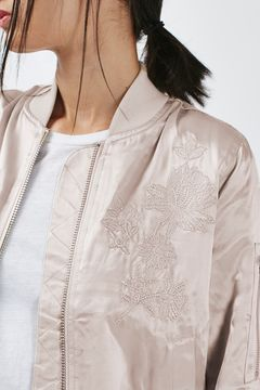 TopShop embroidered nude