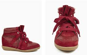Burgundy betty sneaker