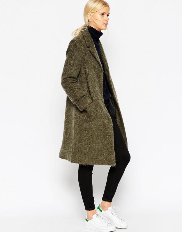 khaki ASOS coat