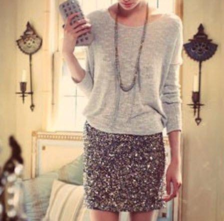 sequin skirt 2