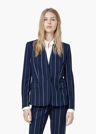 Mango pinstripe jacket