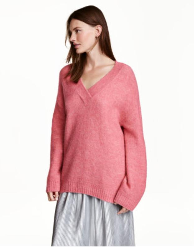 H&M pink sweater