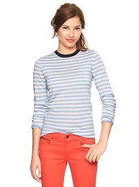 Gap striped jumper pale blue