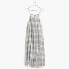 tassel scarf dress