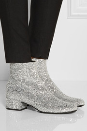 YSL ankle boot silver
