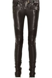 Balmain leather trousers