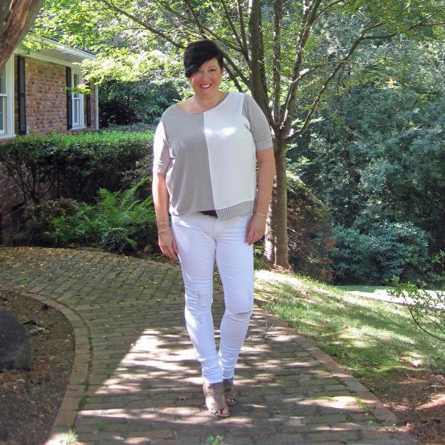 White jeans, sandals, Georgia, summer, summer style