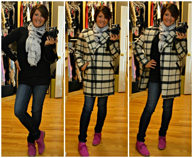 Pink Boden Boots M&S coat