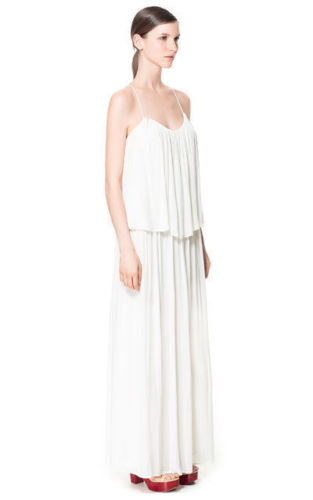 Zara-White-Tiered-Maxi-Dress
